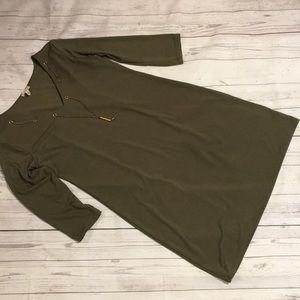 Dresses & Skirts - Haani Olive Green 3/4 Sleeve Shirt